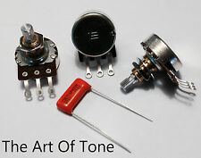 Bourns 250K Pro Audio Split Shaft Audio Taper Pots (Set of 3) & .047uf cap