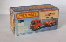 REPRO BOX MATCHBOX SUPERFAST n. 42 MERC. contenitore scuro