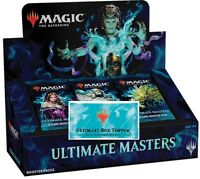 MTG MAGIC ULTIMATE MASTERS BOOSTER BOX FACTORY SEALED W/ BOX TOPPER 12/7 SHIP
