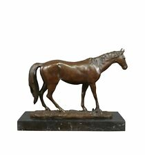 Htdeco - 100 % bronze - Sculpture en bronze d'un cheval