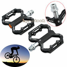 "Road Mountain Bike Platform Bicycle Pedals Flat Aluminum Sealed Bearing 9/16"" uk"