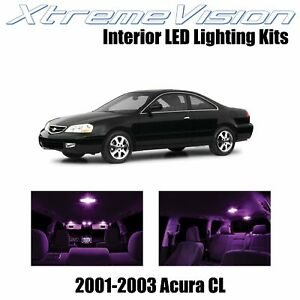 XtremeVision Interior LED Kit for Acura CL 2001-2003 (6 Pieces) Pink