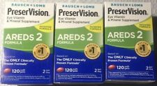Lot Of 3 Bausch + Lomb PreserVision AREDS 2 Formula Eye Vitamin 360 Softgels