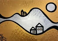 Margarita Bonke Leinwand 70 cm Canvas PAINTING abstract abstrakt landscape gold