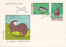 (14545) Romania FDC Deer Wildlife 25 March 1980