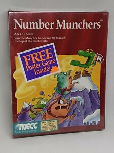 "Vintage Number Munchers MECC NEW Sealed Box - 3.5"" & 5.25"" disks - IBM PC MS-DOS"