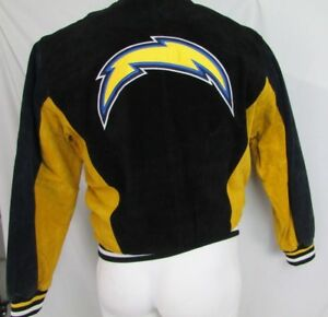 Los Angeles Chargers Men's M Vintage Suede Leather Jacket G-III NFL