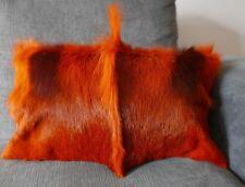 """Springbok Pillow Case Burnt Orange Size 11x18""""(similar to cow hide skin pillow)"""