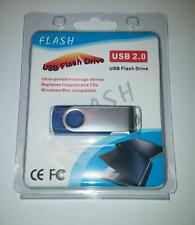 1TB USB 2.0 Flash Drive Disk Memory Pen Stick Thumb Key Storage Swivel Blue A8