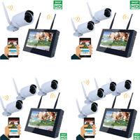 4CH Wireless NVR Kit P2P 960P HD Outdoor IR IP Camera WIFI Video CCTV  System