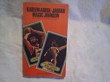 1981 KAREEM JABBAR MAGIC JOHNSON Los Angeles Lakers Paperback,earvin,card front