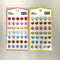 BTS BT21 Official Authentic Goods Face Sticker 2SET By Kumhong + Tracking Number