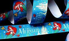 1 inch ARIEL princess in Little Mermaid Movie Disney grosgrain RIBBON 1 yard