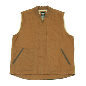DICKIES Fleece Lined Workwear Vest | Large | Chore Jacket Gilet Duck Sherpa