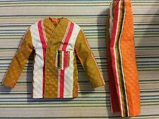 Ken Brad Vintage Mod Pajamas Orange Green White