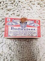 Vintage Budweiser Beer Advertising Salt And Pepper Shakers With Original Box