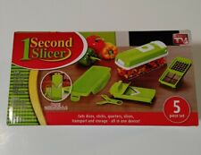 1 Second Slicer All in One Vegetable Slicer and Food Preparation Station 5 Pc