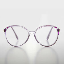 1244963406 Round Oversized Women s Purple Clear Lens Glasses - Virginia