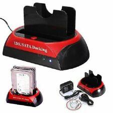 """2.5"""" 3.5"""" SATA HDD Hard Drive Disk USB 1.1 2.0 Port Card Reader Docking Station"""