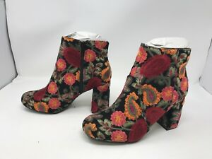 Womens Mia (GG1791) Vail Black Bouquet Ankle Boots (W33)