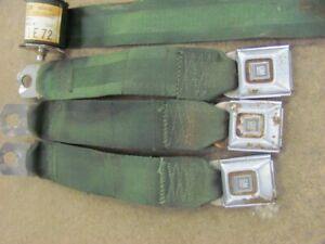 1972 72 Chevy Monte Carlo Green Seat Belt Parts Houlder Harness Buckles LOT