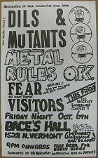 FEAR Baces Hall 1978 CONCERT POSTER The DILS The MUTANTS Brendan Mullen PUNK