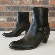 FRYE Women's Black Leather Fashion Ankle Boots Shoe Size 8.5 (Narrow Fit)