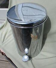 vintage sovereign foot pedal waste basket metal chrome trash can