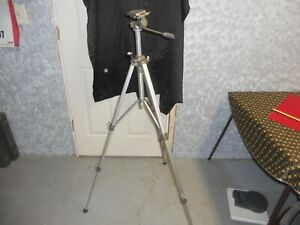 Vintage Sunset Expandable Metal Portable Tripod 55 in H