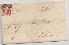 PORTUGAL 1859 - LETTER/COVER COIMBRA TO PORTO - RARE STAMP D. PEDRO V