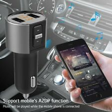 Wireless Bluetooth Handsfree Car Kit FM Transmitter Dual USB Charger MP3 Player