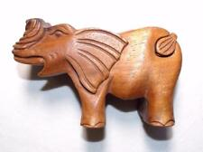 NEW FAIR TRADE HAND MADE WOODEN ELEPHANT PUZZLE BOX / TRINKET BOX FROM INDONESIA