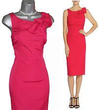 COAST Stunning Hot Pink Darcia May Bow Shift Dress UK 10 EU 38 £139 Formal Party