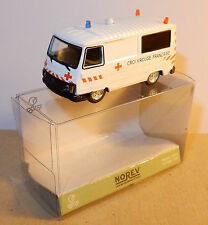 MICRO NOREV HO 1/87 PEUGEOT J9 AMBULANCE CROIX ROUGE FRANCAISE RED CROSS IN BOX1