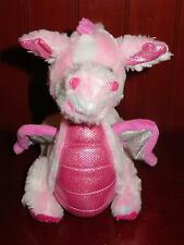 "GANZ Webkinz WHIMSY DRAGON Pink Plush Stuffed Animal 11"" HM156 Sparkles No Code"
