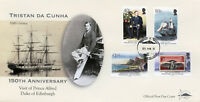 Tristan da Cunha 2017 FDC Prince Alfred Visit 150 4v Cover Royalty Ships Stamps