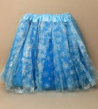 Blue Turquoise Glitter Tutu Fancy Dress Skirt Childrens Childs Party Dance