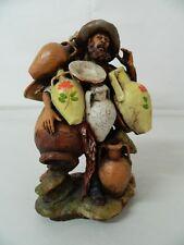 Statua ceramica Venditore vasellame Scuola di Caltagirone Lavorato a mano OMA19