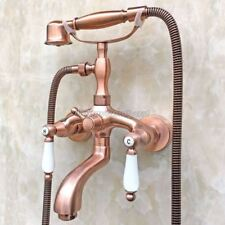 Antique Brass Bathroom Wall Mounted Hand Shower Faucet Set Tub Mixer Tap 8tf805