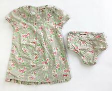 Juicy Couture Baby Girl's Floral Dress & Briefs Set - Grey - 18-24 Months (BC20)