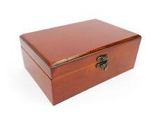 contenitore di monili LEGNO PORTAGIOIE MARRONE aspetto antico scatola con