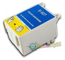 1 T027 Color no-OEM Cartuchos de tinta para la impresora fotográfica Epson Stylus 830U 925 935