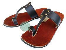 Handmade Brown Black Real Leather Sandal for Men Jesus Sandals Gents Slippers