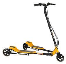 Kids 3 Wheels Foldable Speeder Push Scooter Tri Slider Yellow