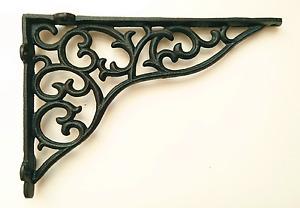 Cast Iron Ornate Shelf Bracket 27.5cm x 19cm in 3 colours