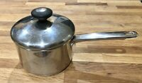 Tools Of The Trade 2QT Stainless Steel Sauce Pan Pot Encapsolated Base With Lid