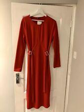 ZARA Dress Size L Red Belted Buckle BNWT RRP £25.99