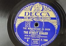 78rpm THE STREET SINGER masquerade is over / south of the border