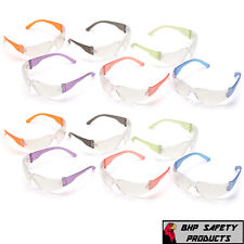 Intruder Mini Multi Color Safety Glasses Clear Lens Withassorted Temple Colors