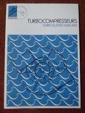 9/1974 DEPLIANT HISPANO-SUIZA TURBOCOMPRESSEUR MARINE DIESEL CHALUTIER FECAMP